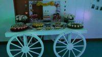 Carruaje para mesa de dulces